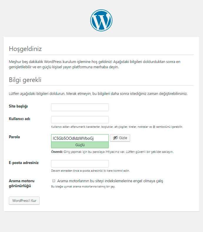wordpress-kullanici-bilgileri