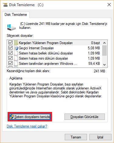 Önceki Windows Sürümünü Silme
