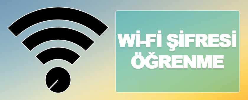 Tüm Cihazlarda Kayıtlı Wifi Şifresini Öğrenme