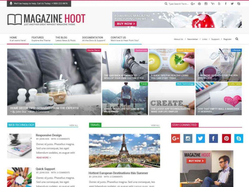 magazine-hoot-wordpress-teması