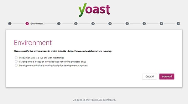 wordpress-yoast-seo-eklentisinin-kurulum-sihirbazi-Environment