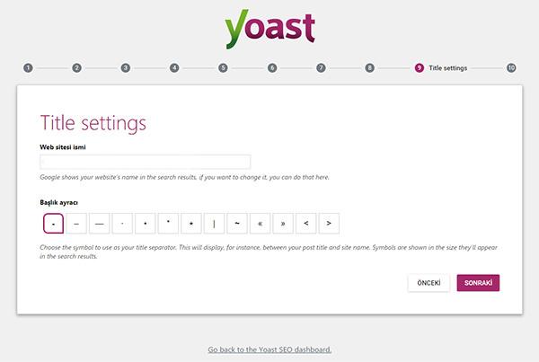 wordpress-yoast-seo-eklentisinin-kurulum-sihirbazi-Title Settings