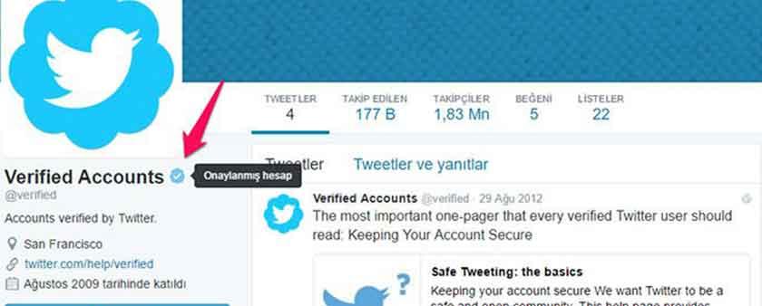 Twitter hesap onaylatma