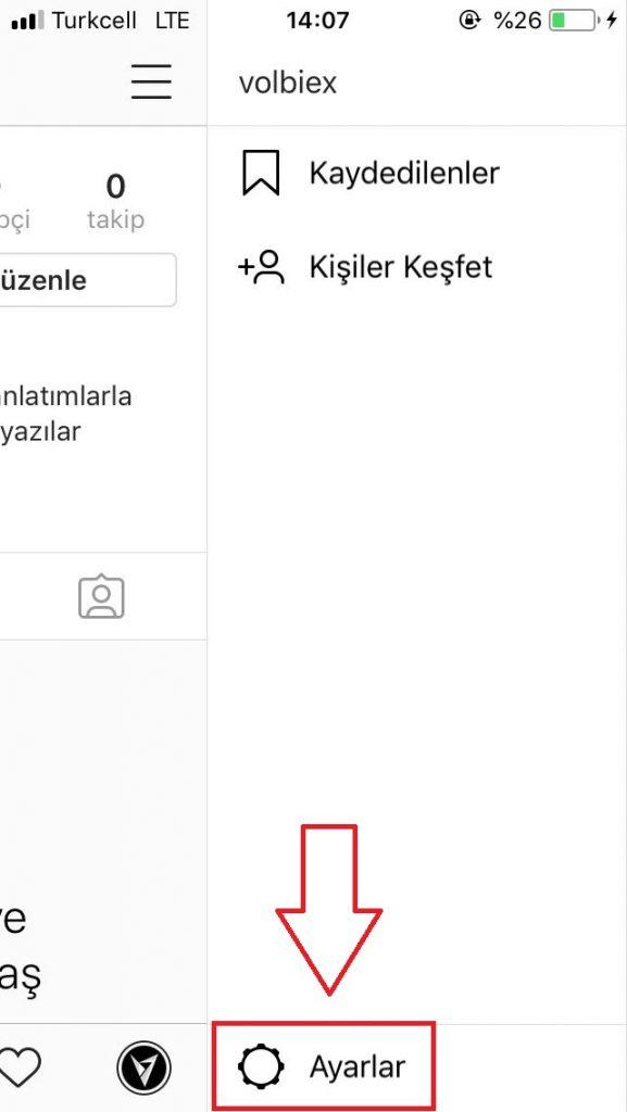 instagram canlı yayın bildirimi kapatma
