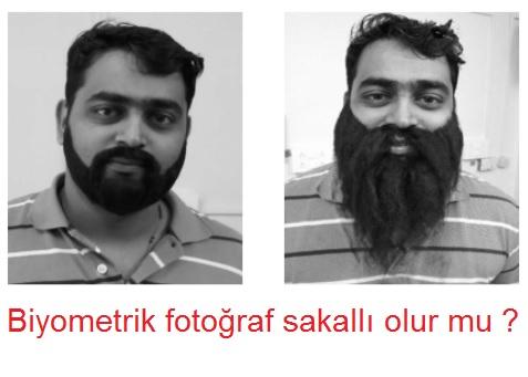 Biyometrik fotoğraf sakallı olur mu