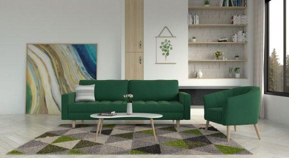 Yeşil koltuğa ne renk halı gider